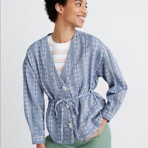 Madewell Women's Floral Jacquard Tie-Waist Jacket